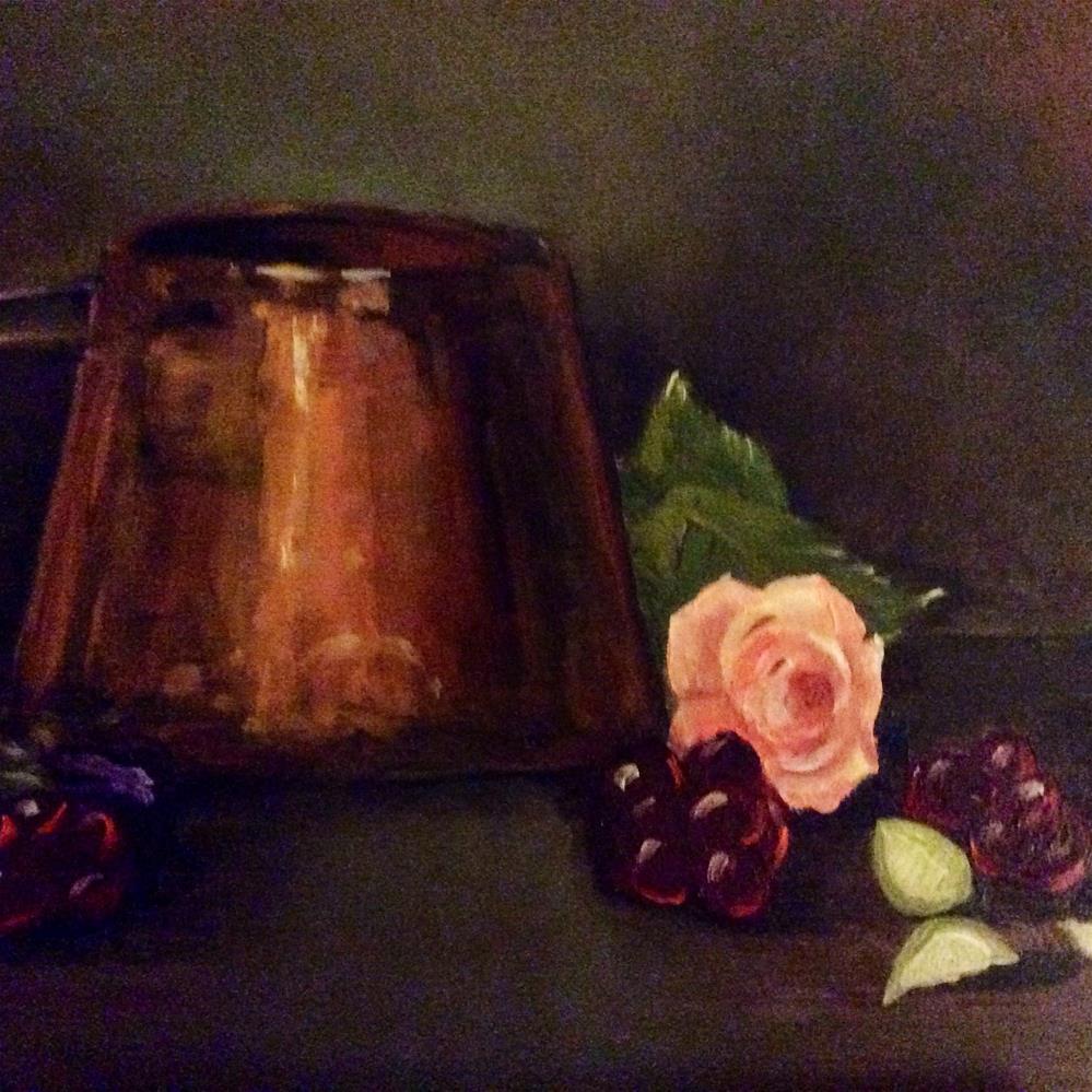 """Limes with Copper Pot"" original fine art by Charlotte Lough"