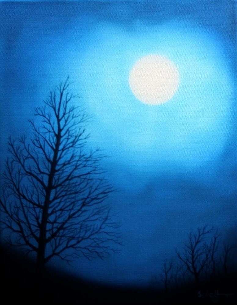 """""""October Midnight"""" original fine art by Fred Schollmeyer"""
