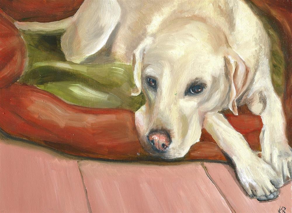 """Labrador 5"" original fine art by Karen Robinson"