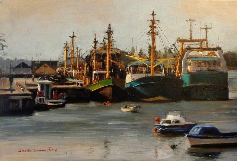 """""""Wexford Boats"""" original fine art by Jonelle Summerfield"""