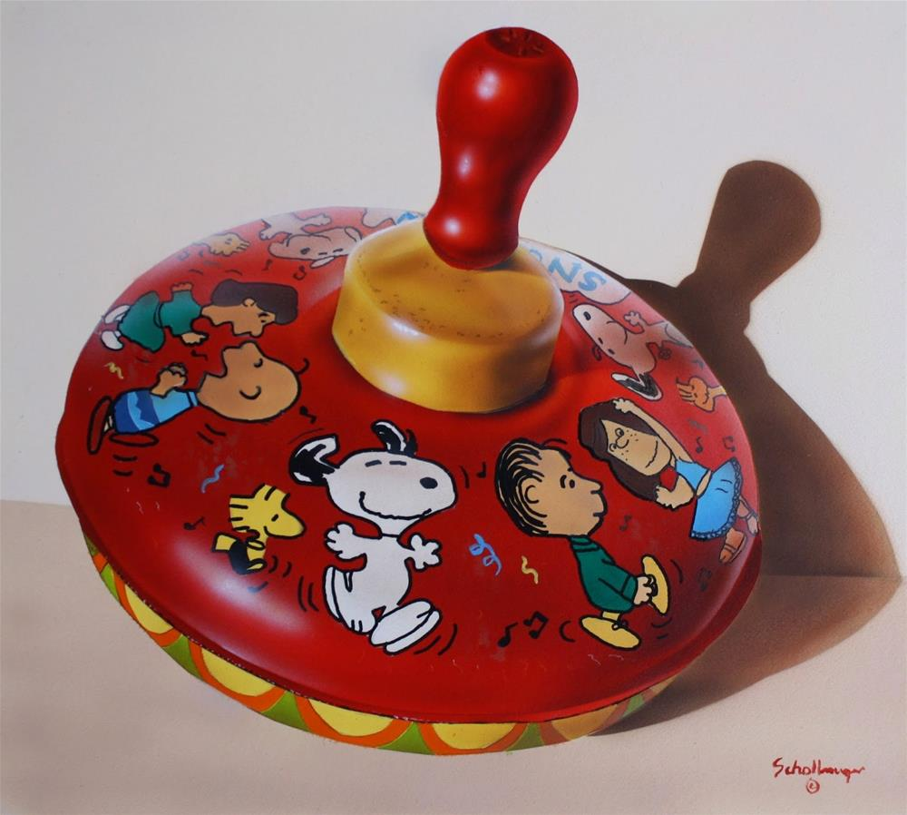 """Snoopy Top"" original fine art by Fred Schollmeyer"