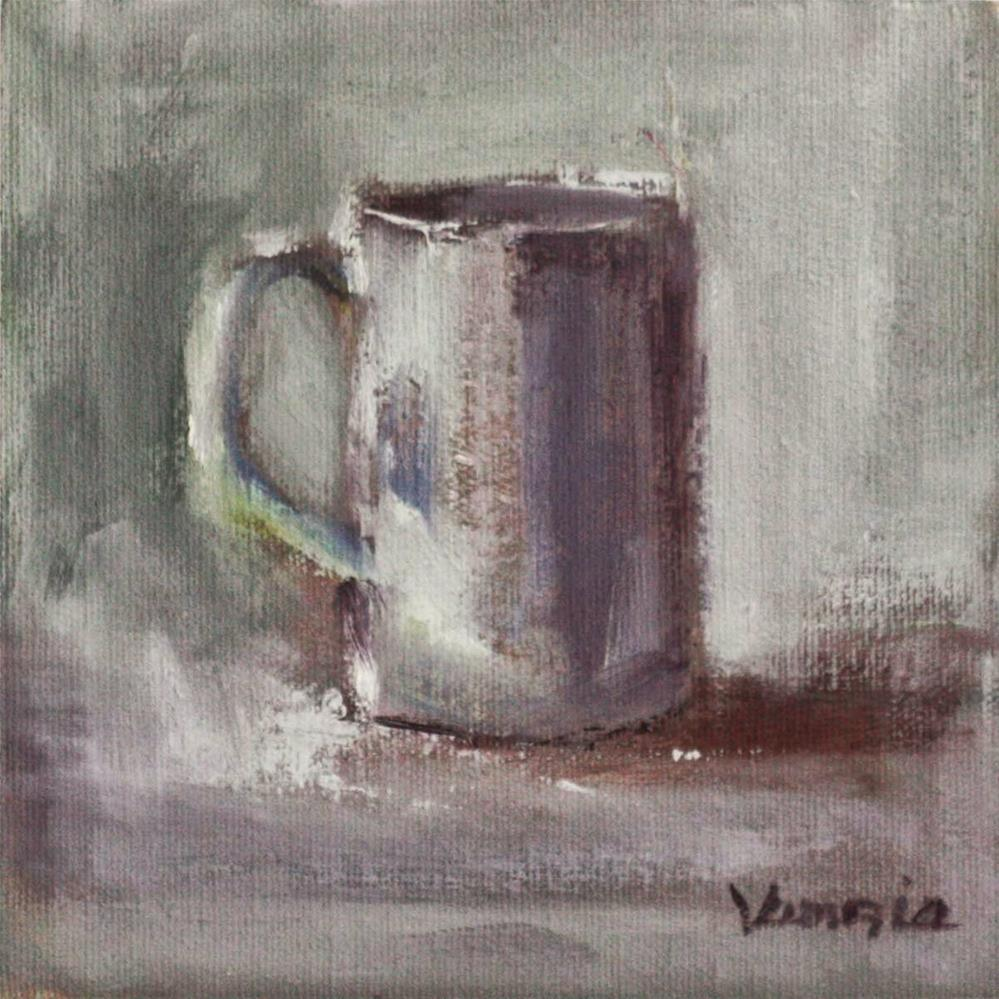 """Still Life with White Cup"" original fine art by Carrie Venezia"