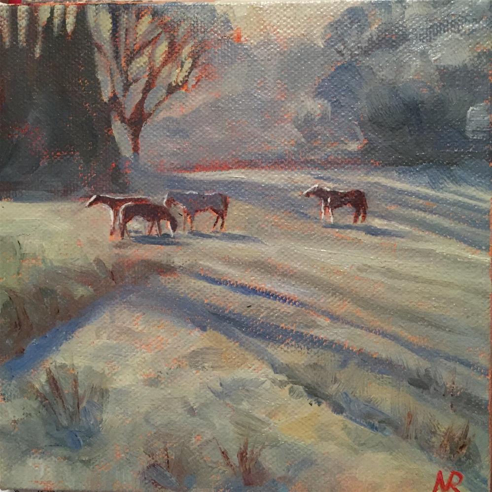 """Horses 1"" original fine art by Natasha Ramras"