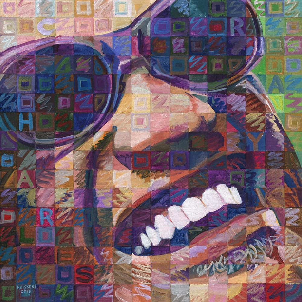 """Ray Charles #3"" original fine art by Randal Huiskens"