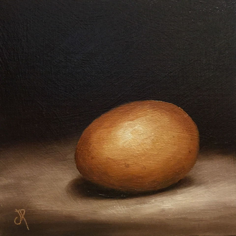 """hens egg"" original fine art by Jane Palmer"
