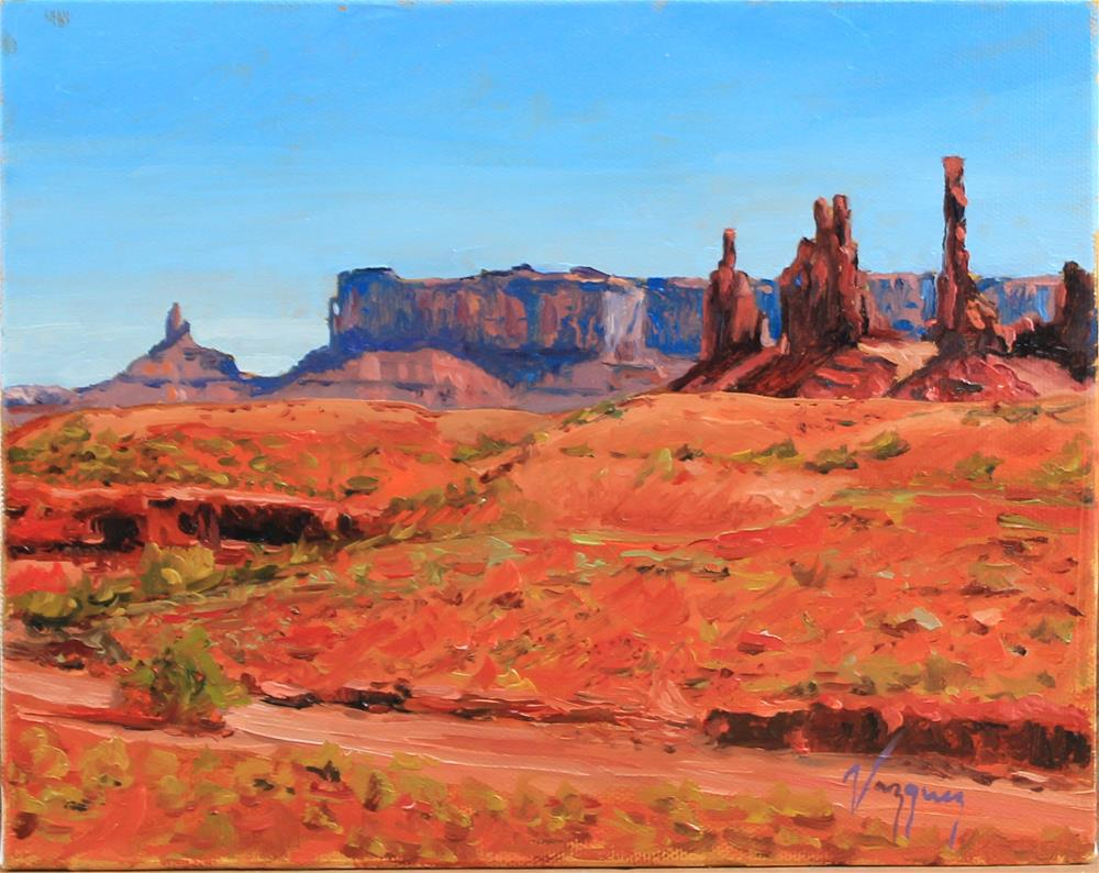 """Monument valley"" original fine art by Marco Vazquez"