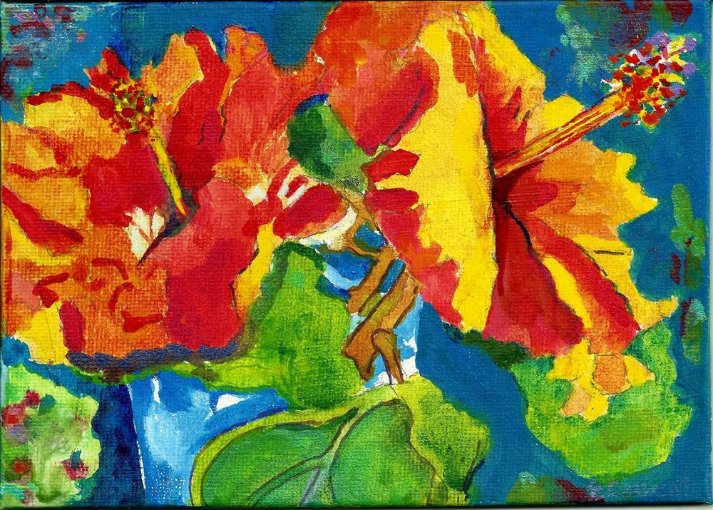 """""""Sunlit Hibiscus"""" original fine art by Elizabeth Current"""