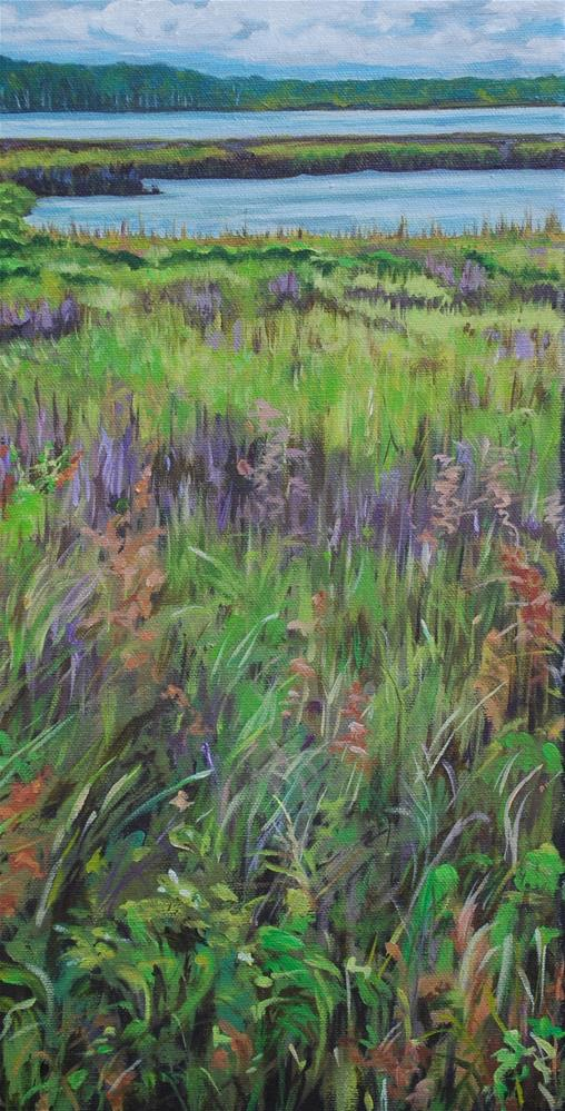 """Weeks Bay in Spring"" original fine art by Beverley Phillips"