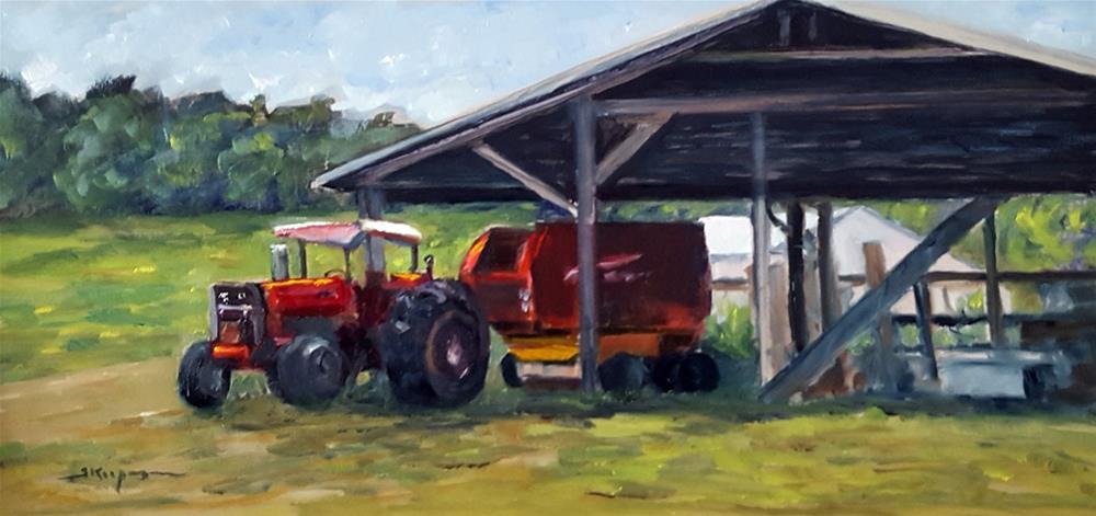 """Tractor at Rest"" original fine art by Shelley Koopmann"