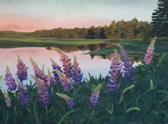 """Lupines"" original fine art by Karen Collins"