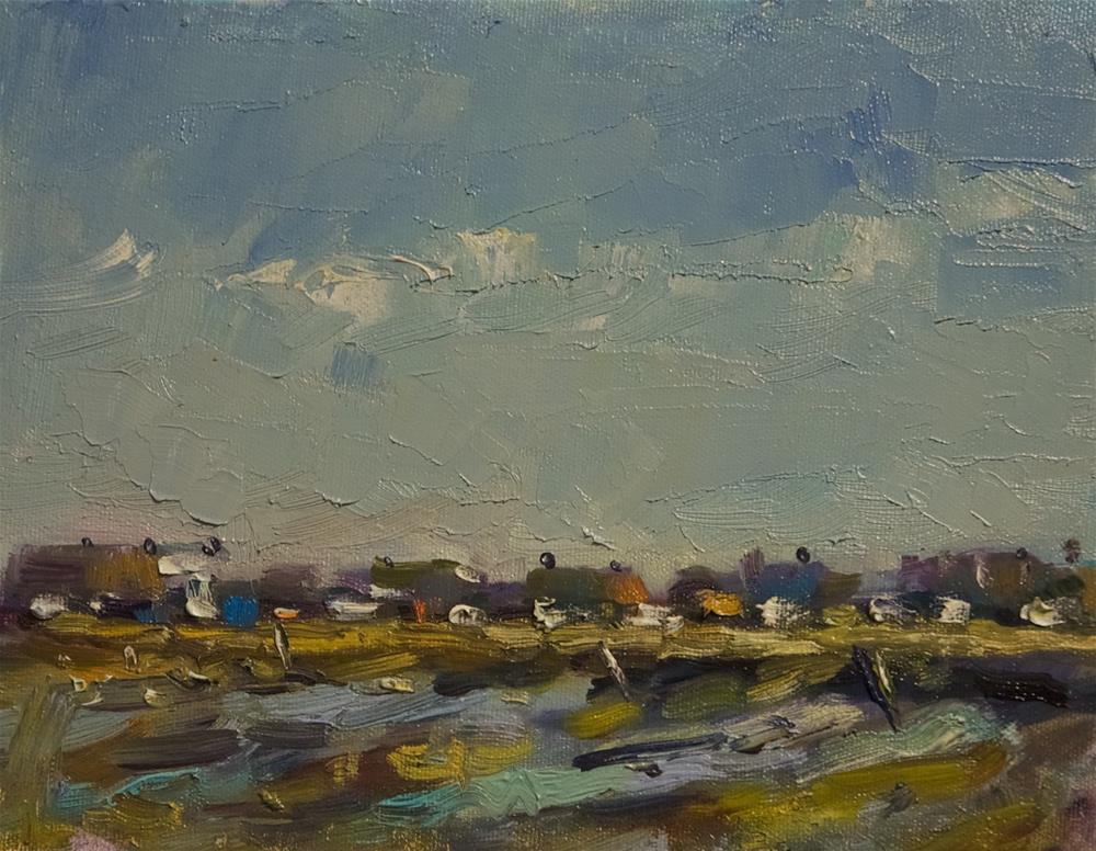 """Low Tide at Shoreham"" original fine art by Andre Pallat"