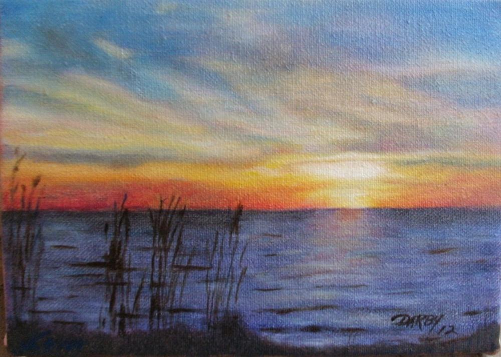 """Bayou Sunset"" original fine art by Lynn Darby"