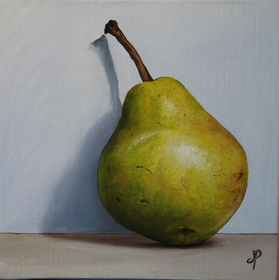 """Pear shadow"" original fine art by Jane Palmer"