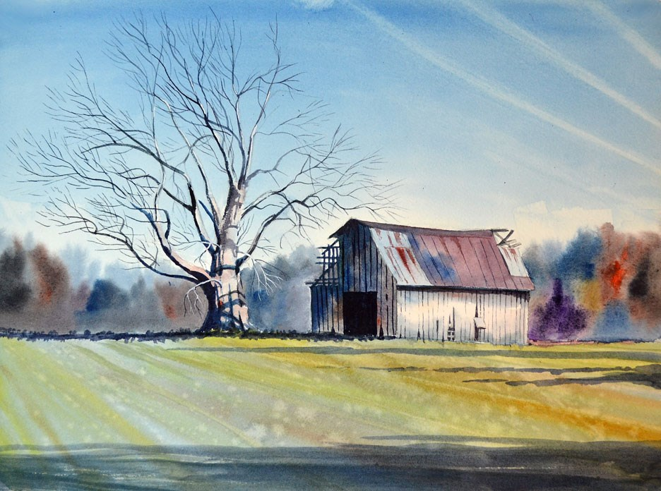 """Down Lincoln Road"" original fine art by Jeff Atnip"