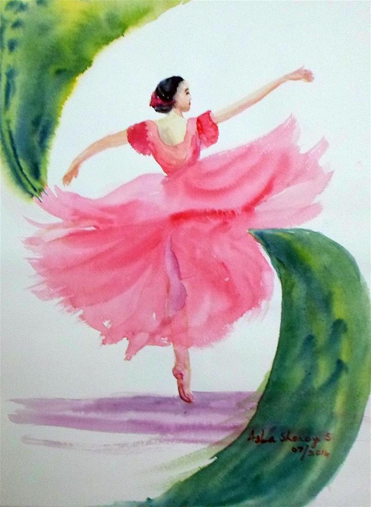 """The Dancer"" original fine art by Asha Shenoy S"