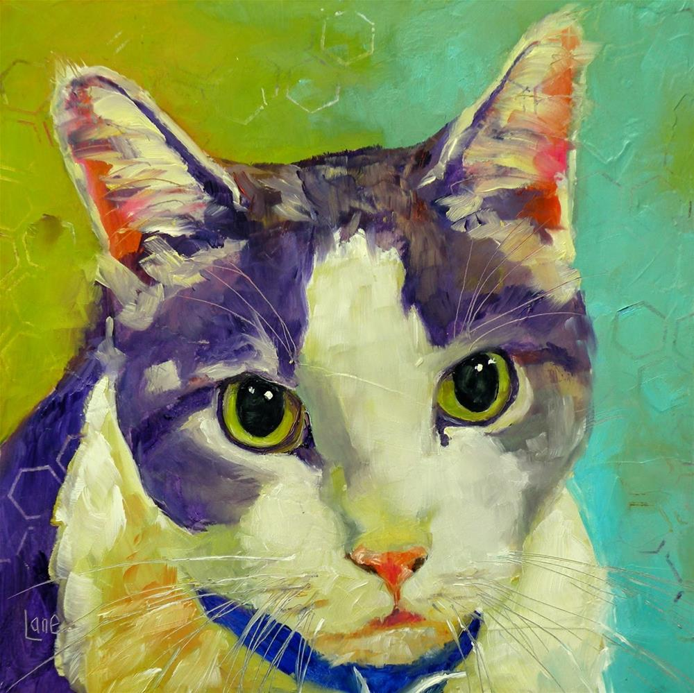 """RILEY 95/101 OF 101 PET PORTRAITS IN 101 DAYS © SAUNDRA LANE GALLOWAY"" original fine art by Saundra Lane Galloway"