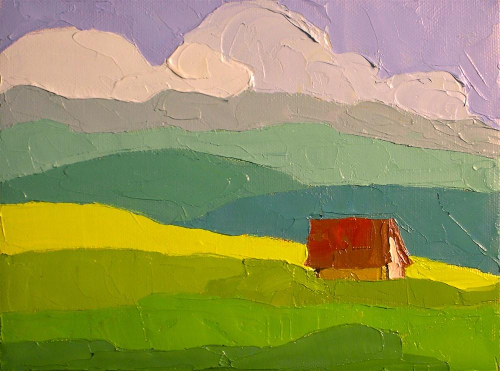 """In the Valley"" original fine art by Donna Walker"