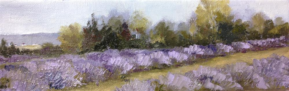 """Lavender Fields"" original fine art by Bonnie Griffith"