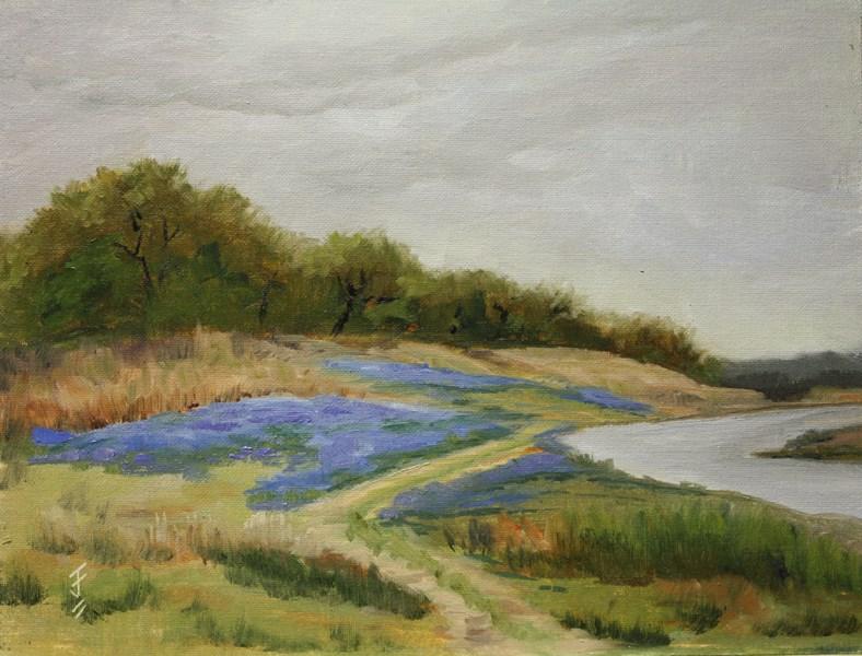 """""""Turkey Bend Bluebonnets"""" original fine art by Jane Frederick"""