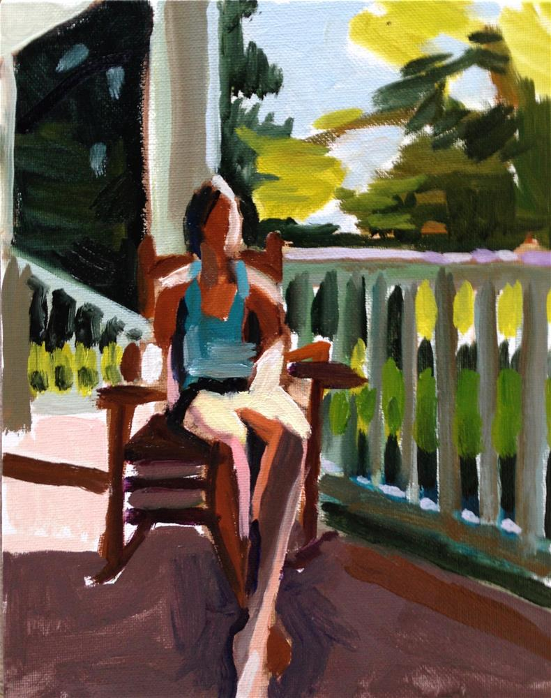 """Putting In Porch Time"" original fine art by Pamela Hoffmeister"