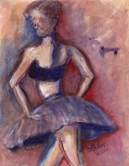 """Dance 4; the hidden language"" original fine art by Richard Huston"