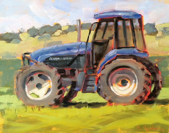 """Workin' the Field"" original fine art by Deborah Newman"