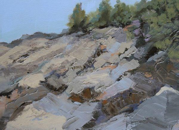 """""""Landscape, Seascape Oil Painting Maine-Study #4 by Colorado Landscape Artist Susan Fowler"""" original fine art by Susan Fowler"""