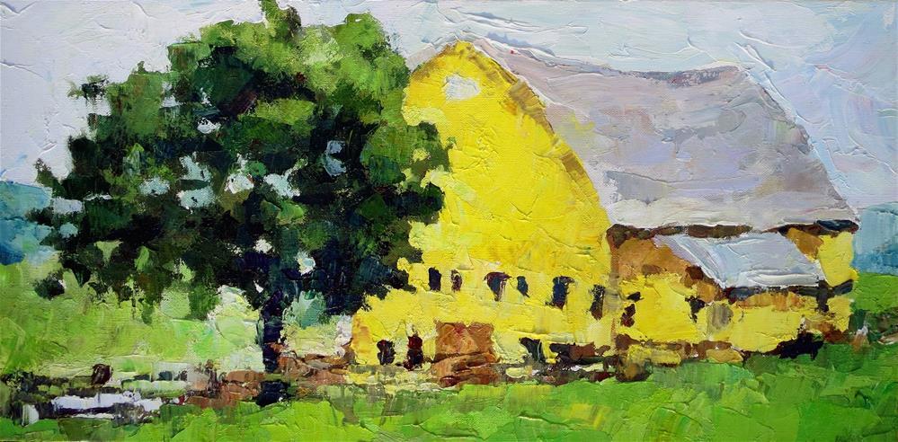 """Country Life Charm"" original fine art by Nava Judith"