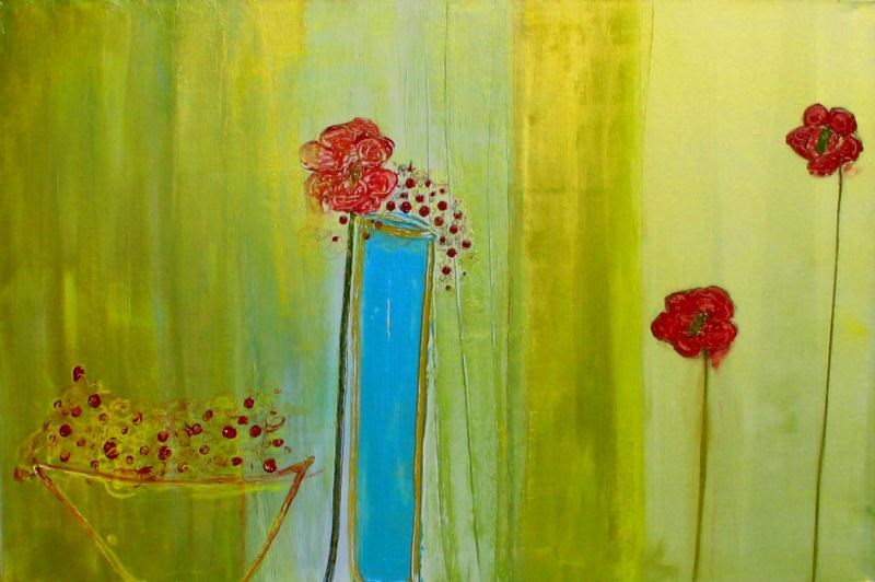 """""""Still Life with Flowers"""" original fine art by Christy Tremblay"""