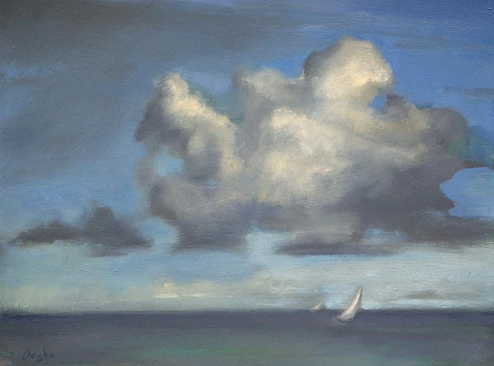 """Sailboat Under Cloud"" original fine art by Angela Ooghe"