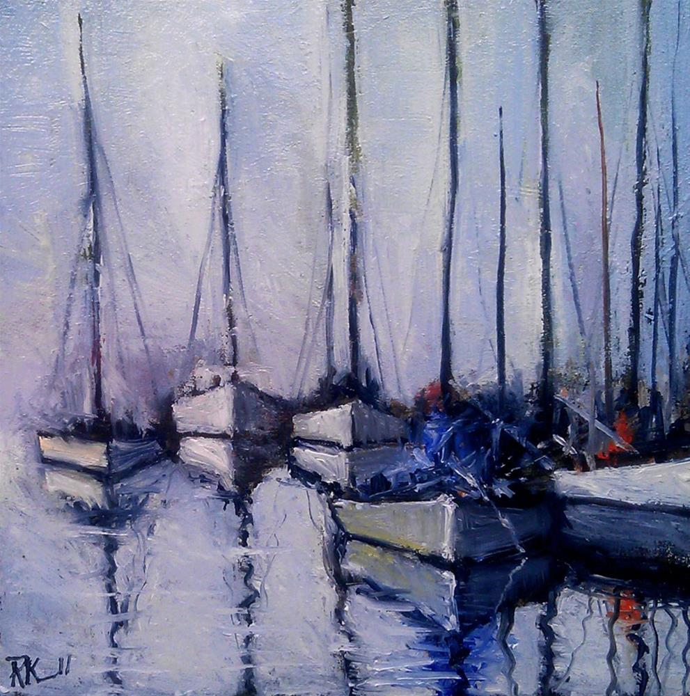 """The Marina"" original fine art by Bob Kimball"