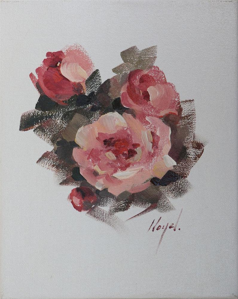 """""""Three Roses and a Bud"""" original fine art by Diane Lloyd"""