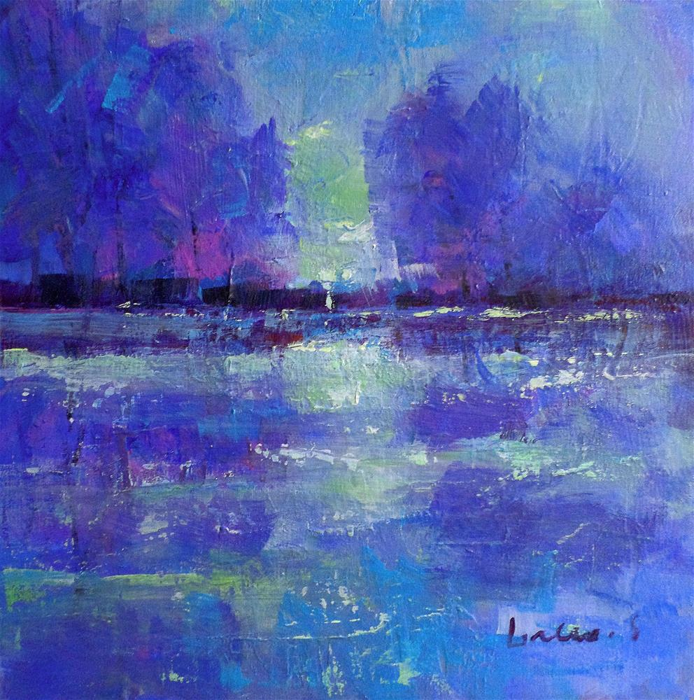 """Harmony blue"" original fine art by salvatore greco"