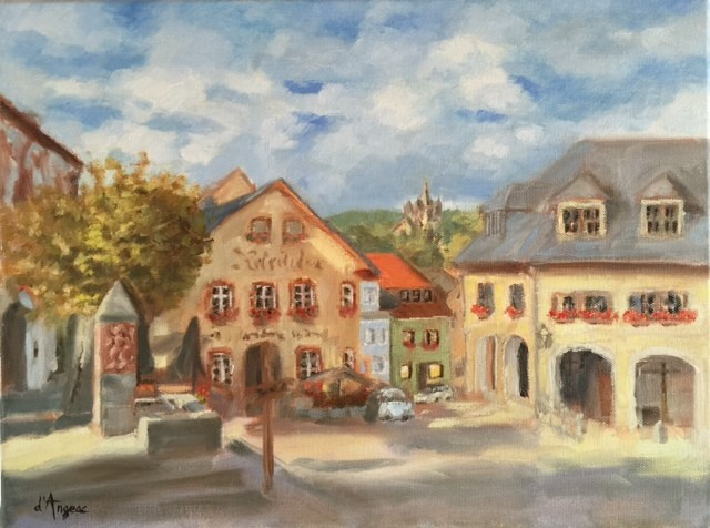"""Koenigstein, Germany"" original fine art by Karen D'angeac Mihm"