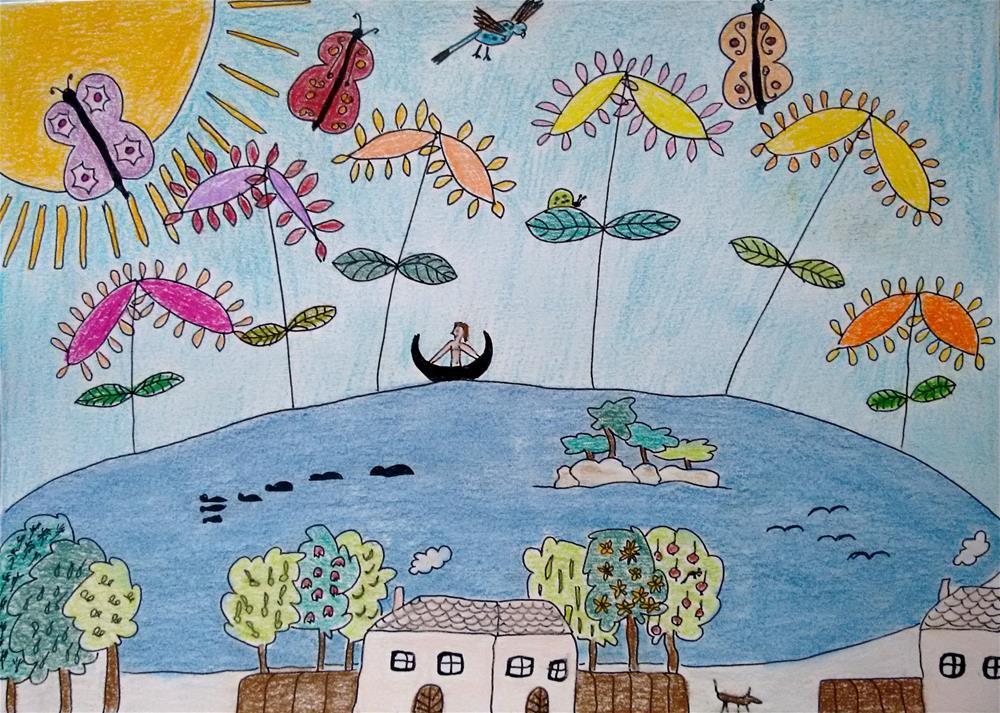 """""""When is Your Next Holiday?"""" original fine art by Adéla Svobodová"""