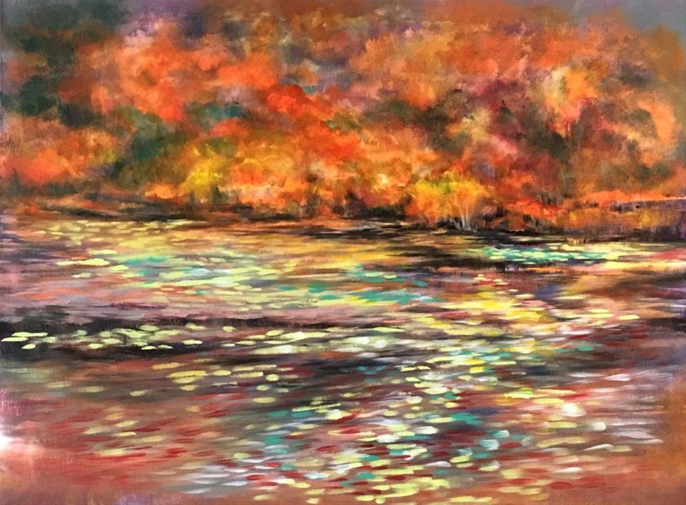 """Forest Edge"" original fine art by Khrystyna Kozyuk"