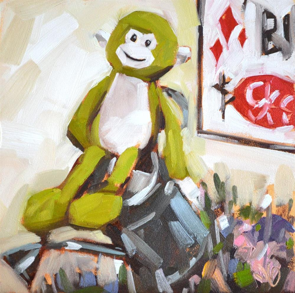 """Monkey"" original fine art by Jessica Green"