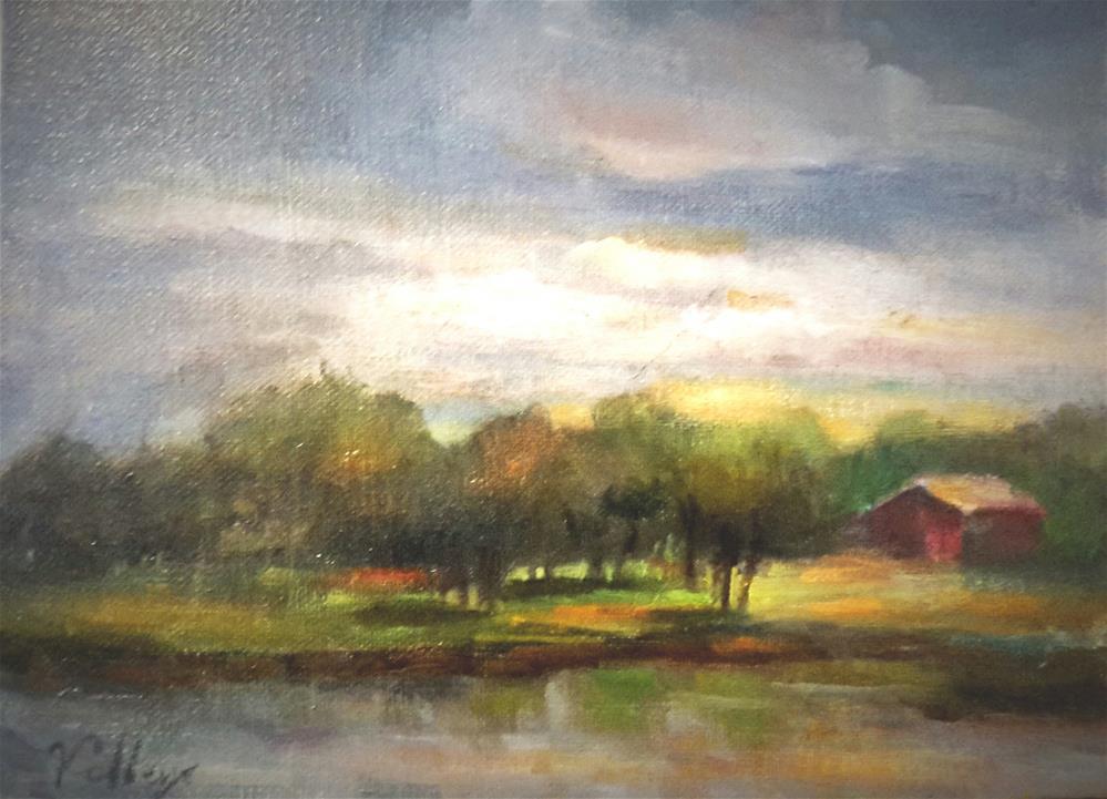 """""""Vivalde SKy and Red Barn"""" original fine art by Jessica Veilleux"""