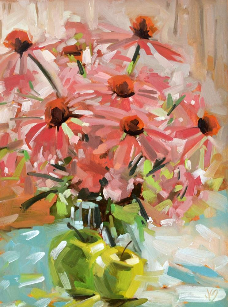"""Addie's Flowers"" original fine art by Jessica Green"
