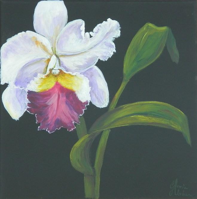 """Vandas Orchid #3"" original fine art by Gloria Urban"