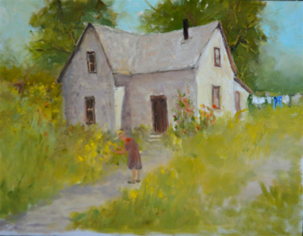 """Aunties Cottage"" original fine art by Dorothy Redland"