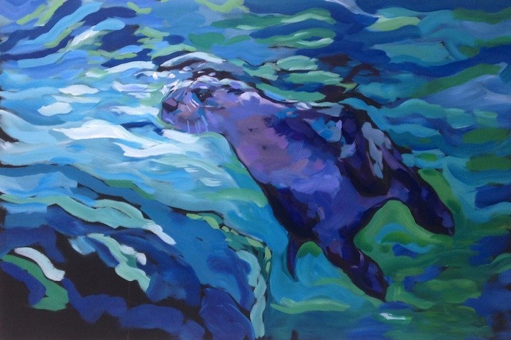 """Rising to the Surface"" original fine art by Kat Corrigan"
