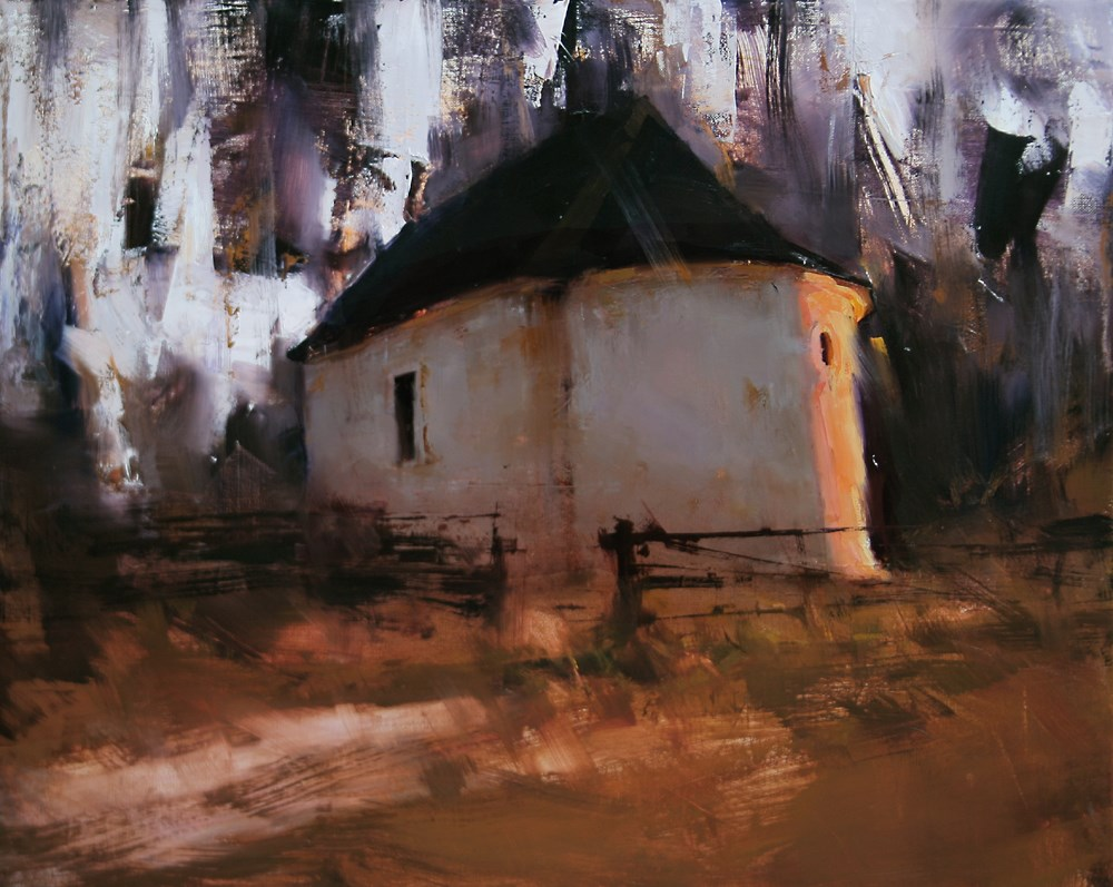 """The Sanctuary"" original fine art by Tibor Nagy"