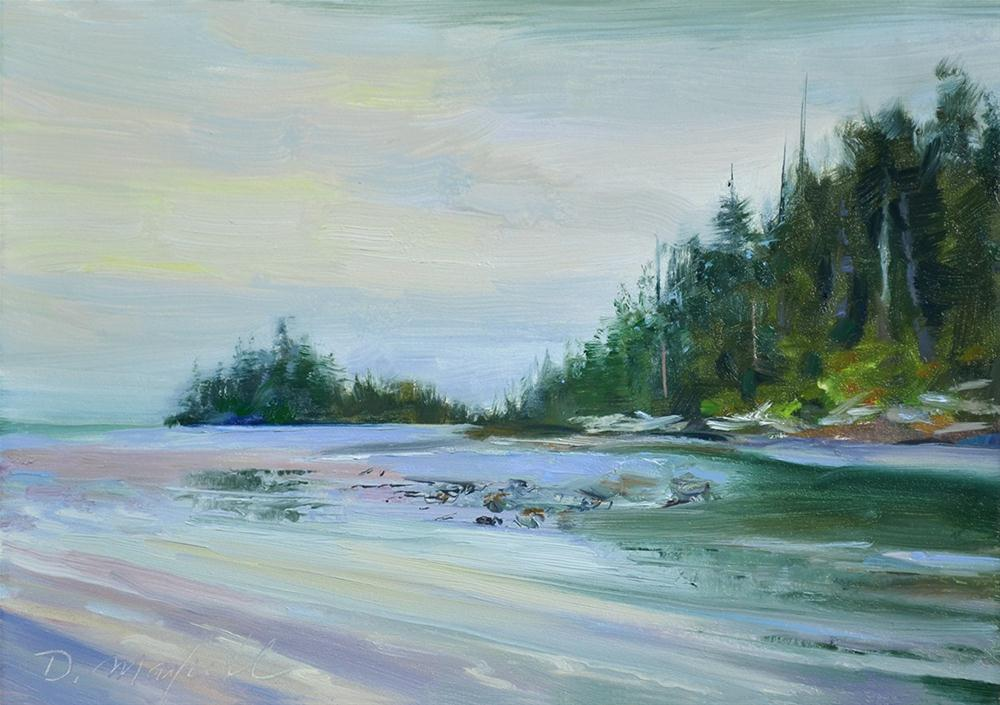 """Low Tide"" original fine art by Denise Maxwell"