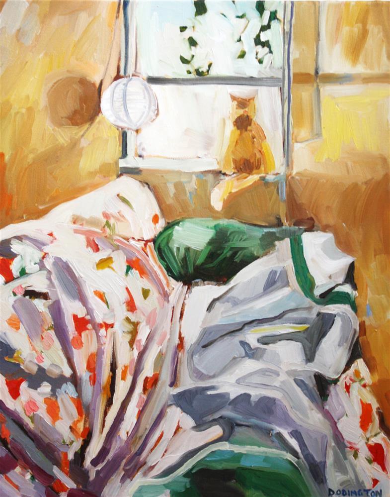 """Window Bed"" original fine art by Jessie Dodington"