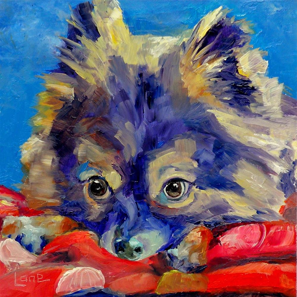 """GRIZZLEY 97/101 OF 101 PET PORTRAITS IN 101 DAYS © SAUNDRA LANE GALLOWAY"" original fine art by Saundra Lane Galloway"
