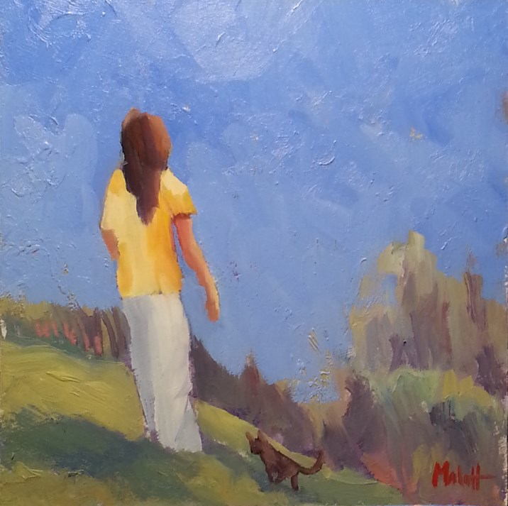 """Girl and Her Kitten Oil Painting"" original fine art by Heidi Malott"