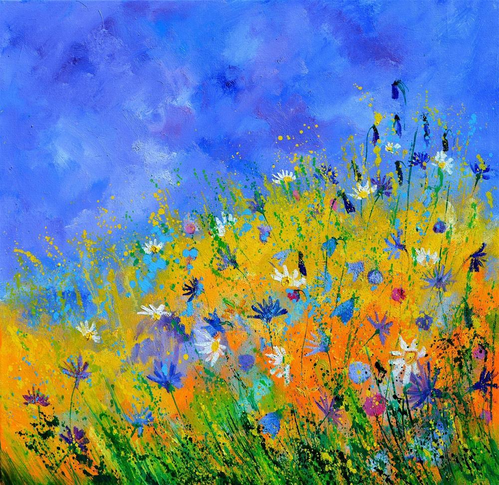 """wild flowers 8861"" original fine art by Pol Ledent"