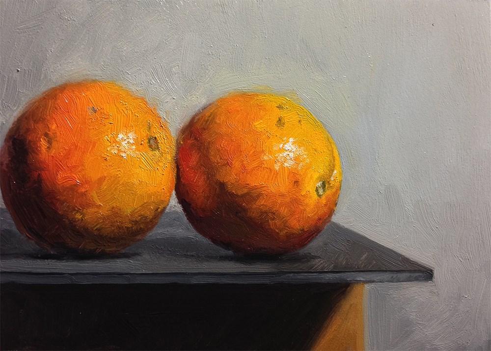 """Two Oranges"" original fine art by Chris Beaven"