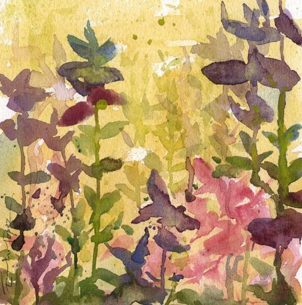 """""""flores 16"""" original fine art by Emilio López"""